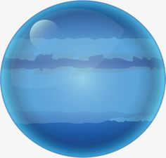 Blue planet, Alien, Blue, Hand Painted Planet PNG and Vector