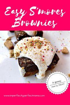 Easy S'mores Brownies! Delicious, gooey, chocolatey, birthday treat!