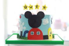 Image result for mickey mouse 2 tier birthday cake