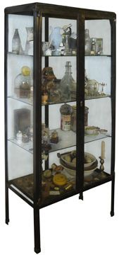 medical cabinet, belgium 1950's  from installations antiques (houston, tx)