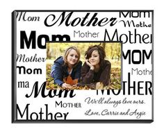 Personalized Mom-Mother Picture Frame - Available in 2 Colors