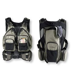 $85. Now there's a better way to carry your fishing gear. We tapped into L.L.Bean's vast resource of top-notch backpack developers to create a truly innovative vest/pack hybrid. Designed with the same organizational elements as a traditional vest, the Rapid River Vest Pack is constructed to distribute weight more efficiently.</P><P>Inspired by mountaineering packs, the technical suspension system reduces back and shoulder fatigue. The padded-waistbelt lumbar support ..