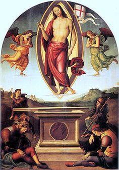 Resurrezione di San Francesco al Prato  AutorePietro Perugino Data1499 circa Tecnicaolio su tavola Dimensioni233 cm × 165 cm  UbicazionePinacoteca Vaticana, Città del Vaticano