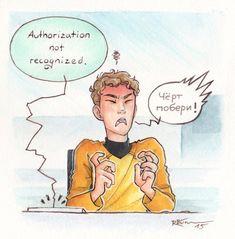 """""""Dammit!""""Chekov - Star Trek AOS"""