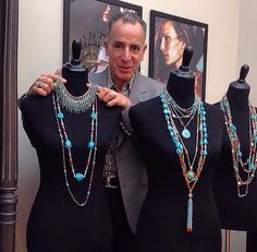 Stephen Dweck Spring 2015 collection featuring turquoise jewelry