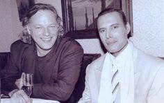 David Gilmour and Freddie Mercury