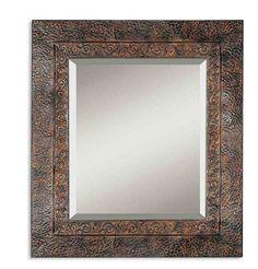Dark Rust Metal Mirror Western Mirrors