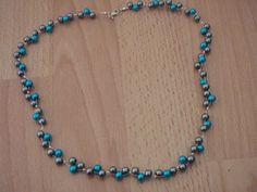Tyrkysovo-sivý náhrdelník Beaded Necklace, Relax, Jewelry, Fashion, Beaded Collar, Jewlery, Moda, Pearl Necklace, Jewels