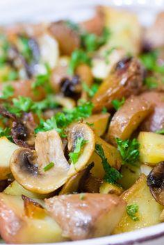 Pommes de terre sarladaises aux champignons   Histoires de fruit