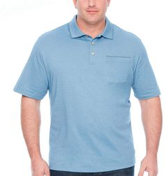 f1639f00deb9 Van Heusen Flex Solid Tipped Polo Short Sleeve Knit Polo Shirt Big and Tall  JCPenney