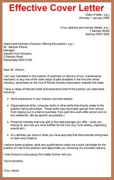 who to write a cover letter for job application