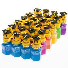 Smiley Face Graduate Bubble Bottles
