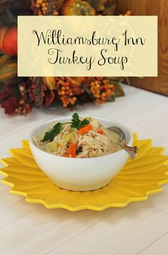 Williamsburg Inn Turkey Soup ~ Great way to use left over turkey. Casserole Recipes, Soup Recipes, Dinner Recipes, Cooking Recipes, Turkey Recipes, Turkey Soup, Turkey Leftovers, Williamsburg Inn, Colonial Recipe
