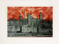 """""""Tower of London Ruby"""" by Jonnie Temple Original  The Royal Gallery  www.theroyalgallery.co.uk/index.php?location=item&item=1719&art=Originals&source=2"""