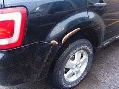 Passenger rear wheel well
