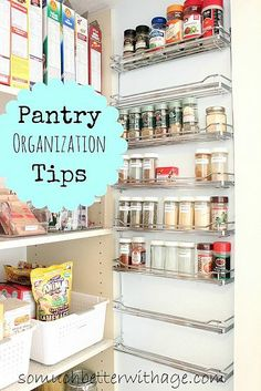 Who else wants a more organized pantry? Check out her great hanging organizers!
