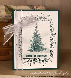 Quick and Easy Holiday Card with Perfect Panels - Winter Cheer Stamp TV Kit