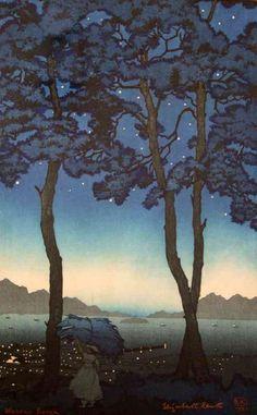 g.petzold illustration - Google keresés Japanese Prints, Japanese Style, Night Skies, Night Rain, Woodblock Print, Asian Art, Printmaking, Art Prints, Block Prints