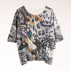 stella mccartney Organic Cotton Leopard Print T-Shirt