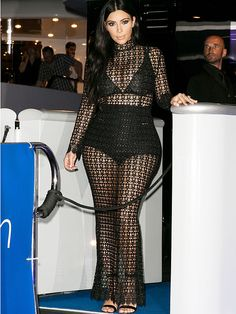 Kim Kardashian Wears Sheer Dress Over Briefs and Bra, Seems Determined to Deplete the World's Supply of This Outfit http://stylenews.peoplestylewatch.com/2015/06/25/pregnant-kim-kardashian-wears-sheer-dress-over-bra-panties/