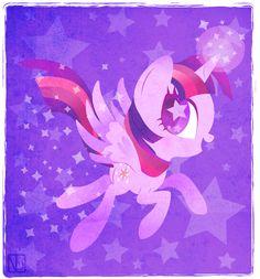 Purple Princess by DisfiguredStick ||| My Little Pony: Friendship is Magic, Twilight Sparkle, pegasus, unicorn, alicorn