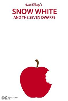 Minimalist movie posters snow white