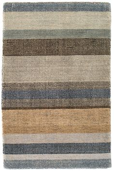 #DashandAlbert Birchwood Stripe Hand Knotted Rug. An updated version of our best-selling Stonover Stripe and Rock Hill Stripe rugs, this ultrasoft and plush hand-knotted wool area rug features stripes in shades of a desert sunset.