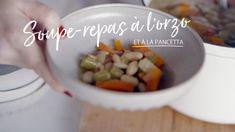 Soupe-repas à l'orzo et à la pancetta Quebec, Soup Recipes, Healthy Recipes, Healthy Food, Orzo, Risotto, Breakfast, Foodies, Meal Prep