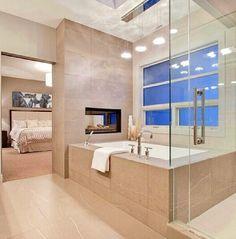 Bath... Very modern & clean but I would need a door between bathroom and bedroom.