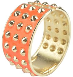 Bracciale con borchie dorate disponibile in 7 fantastici colori ❤