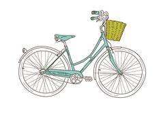 blue bike free printable