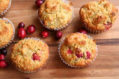 Cranberry Almond Muffins (Dairy, Gluten/Grain and Refined Sugar Free)