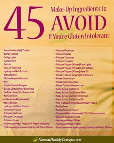 45 Cosmetic ingredients to avoid if you're gluten intolerant or have Celiac disease