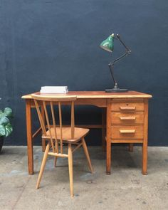 1950s Abbess Teachers Desk. All Original.  #desk #abbess...
