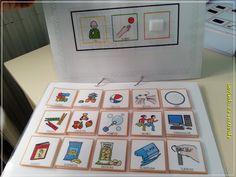 Spanish PECS-type communication book, very simple, has toys/snacks, basic needs, and feelings Communication Book, Basic Needs, Montessori, Gallery Wall, Teaching, Holiday Decor, Simple, Frame, Samara