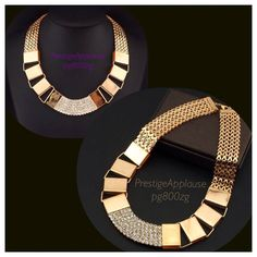 Gold Plated Necklace with Diamante http://www.prestigeapplause.com/