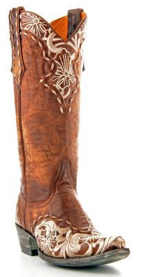 Womens Old Gringo Erin Boots Bone, Brass #L640-4 via @Allens Boots