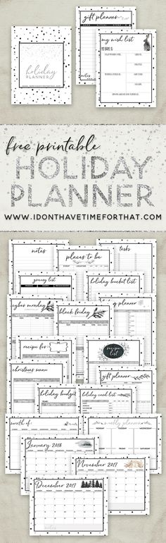 This holiday season, keep track of EVERYTHING with a beautiful and free 22 page printable Holiday Planner! You can track everything from recipes, shopping lists, tasks, and more! This is the ultimate way to own your holiday season!