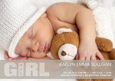 Homemade Birth Announcement Ideas