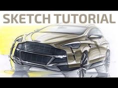 #4 Sketch and Rendering Tutorial by Adonis Alcici - SUV Front View - YouTube