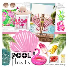 """""""Palm Trees and Ocean Breeze"""" by southernpearldesigns ❤ liked on Polyvore featuring interior, interiors, interior design, home, home decor, interior decorating, Urban Outfitters, Big Mouth, Lilly Pulitzer and WALL"""