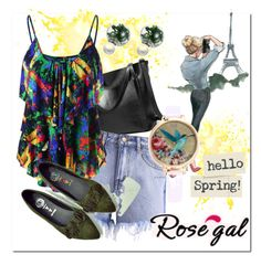 """""""Hello#Spring#and#Hey#for#summer"""" by bamra ❤ liked on Polyvore"""