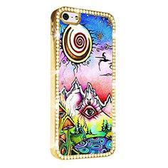 Hippie Dippy Eye Art iPhone 5/5S Case Cover Diamond Crystal Rhinestone Bling Hard Gold Case Cover Protector PAZATO http://www.amazon.com/dp/B00NSDBBL8/ref=cm_sw_r_pi_dp_Uuziub1CTGJF7