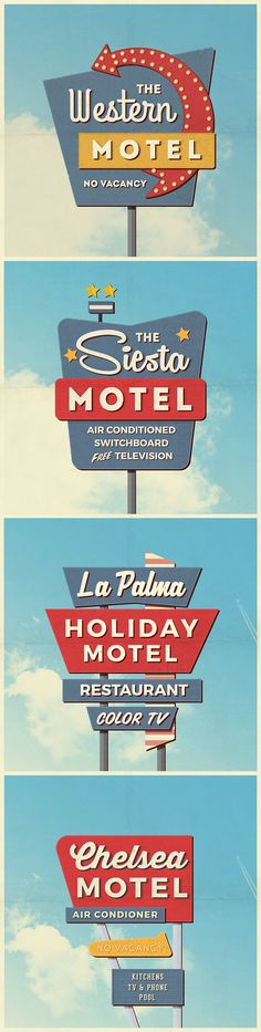 Free 4 Vintage Motel Sign Mockups (226 MB) | By Antonio Padilla on pixelbuddha.net