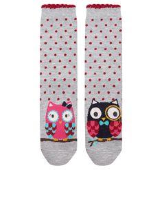 Mr And Mrs Owl Socks