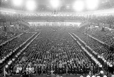 Sports Palace in Berlin during a Nazi campaign rally