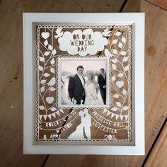Personalised Instagram Photo Wedding Papercut - I love this!!