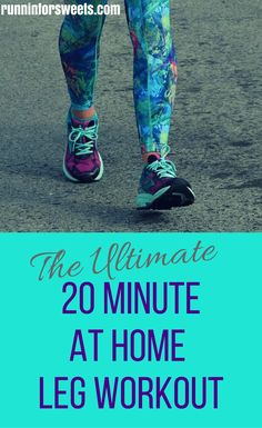 The Best 20 Minute Bodyweight Leg Strength Workout for Runners | Runnin' for Sweets