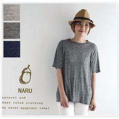 【NARU ナル】リネン 天竺 フレアー カットソー (622152)