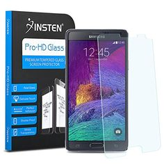 Samsung Galaxy Note 4 Screen Protector, Insten Tempered Glass Screen Protector compatible with Samsung Galaxy Note 4 SM-N910 -- Read more at the image link.